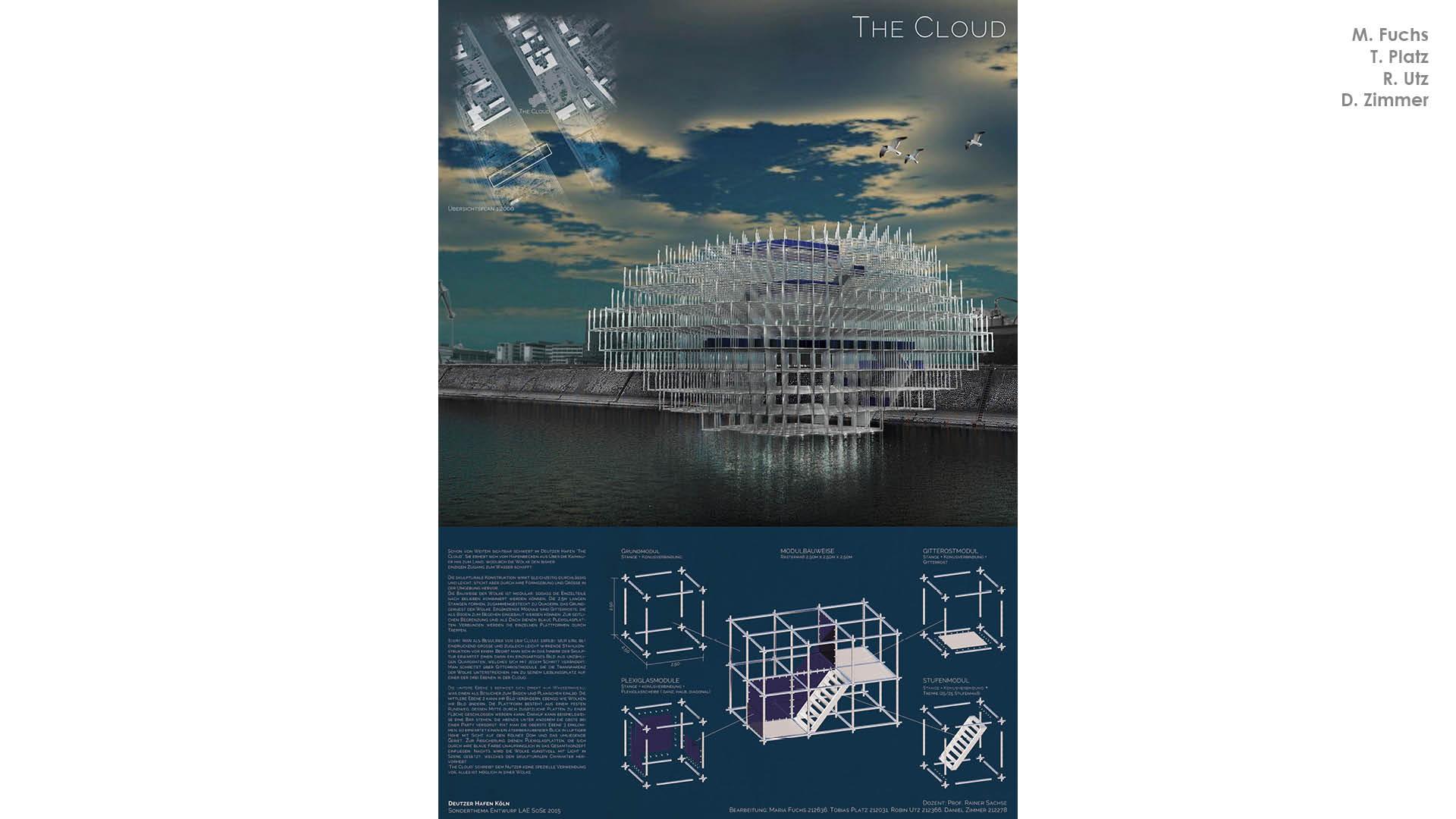 """""""The Cloud"""" errichtet eine begehbare, transparente Skulptur am Hafenbecken."""