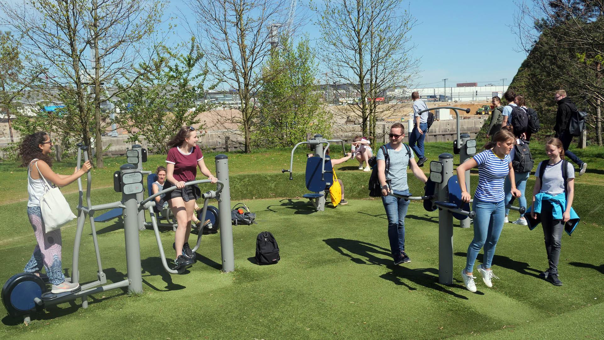 und das Outdoor-Gym