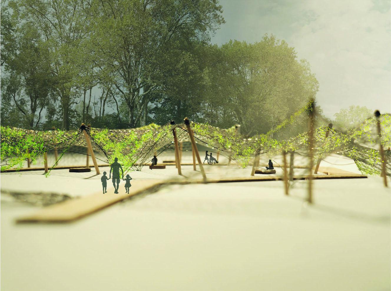 Entwerfen von Gärten, temporär